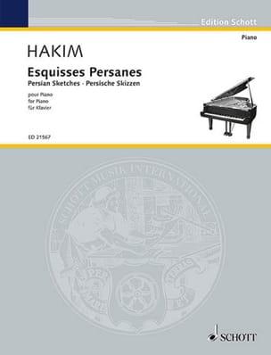 Esquises persanes Naji Hakim Partition Piano - laflutedepan