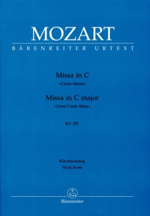 Missa in C Credo-Messe KV 257 - MOZART - Partition - laflutedepan.com
