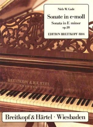 Sonate Pour Piano Mi Mineur Op. 28 Niels Gade Partition laflutedepan