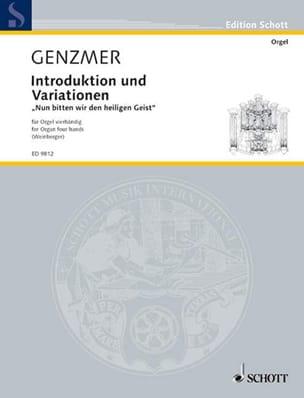 Introduktion Und Variationen. 4 Mains Harald Genzmer laflutedepan