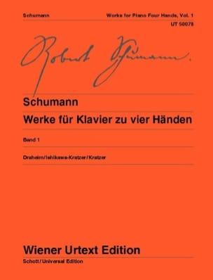 Klavierwerke Bd 1 - 4 Mains SCHUMANN Partition Piano - laflutedepan