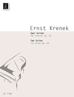 2 Suites Op. 26 1924 Ernst Krenek Partition Piano - laflutedepan