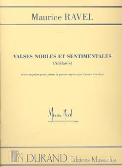 Valses Nobles et Sentimentales. 4 mains RAVEL Partition laflutedepan