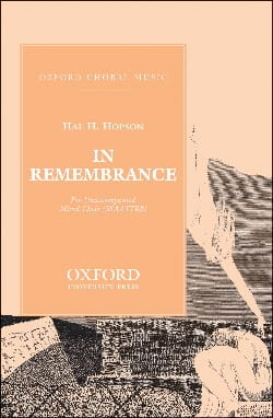 In Remembrance Hopson Partition Chœur - laflutedepan