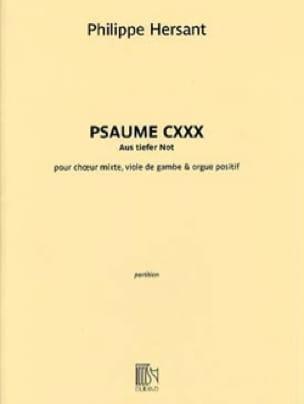 Psaume CXXX - Philippe Hersant - Partition - Chœur - laflutedepan.com