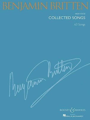 Collected songs. Voix haute BRITTEN Partition Mélodies - laflutedepan