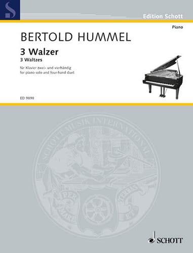3 Valses 2 et 4 Mains - HUMMEL - Partition - Piano - laflutedepan.com