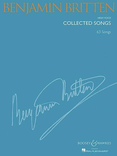 Collected songs. Voix haute - BRITTEN - Partition - laflutedepan.com