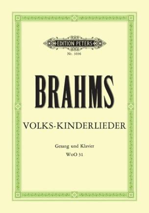 Volks-Kinderlieder WoO 31 BRAHMS Partition Mélodies - laflutedepan