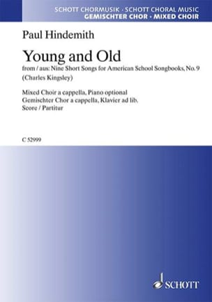 Young And Old HINDEMITH Partition Chœur - laflutedepan