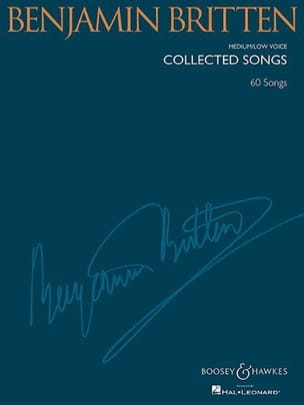 Benjamin Britten - Collected songs. Deep voice - Partition - di-arezzo.com
