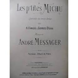 Les P'tites Michu André Messager Partition Opéras - laflutedepan