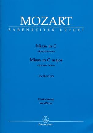 Missa Brevis in C K 220 K 196b MOZART Partition Chœur - laflutedepan