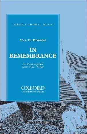 In Remembrance Vx Hommes - Hopson - Partition - laflutedepan.com