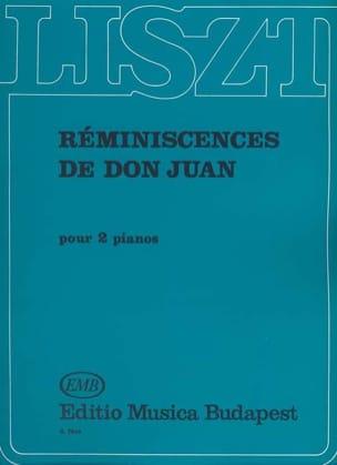 Réminiscences de Don Juan. 2 Pianos LISZT Partition laflutedepan