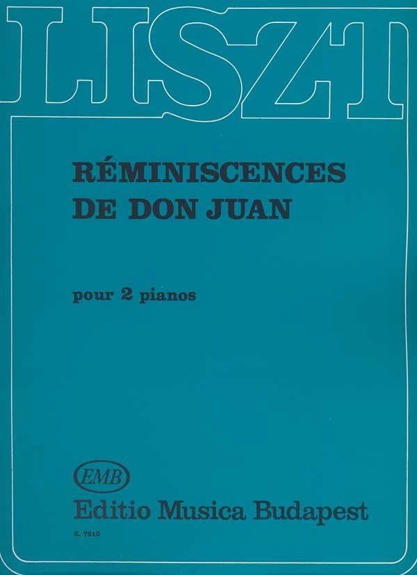 Réminiscences de Don Juan. 2 Pianos - LISZT - laflutedepan.com