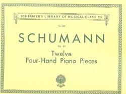 12 Pièces Opus 85. 4 Mains SCHUMANN Partition Piano - laflutedepan