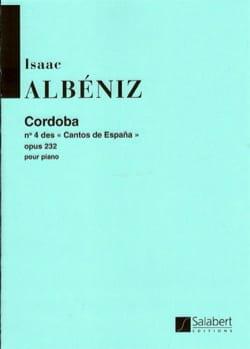 Cordoba Opus 232-4 ALBENIZ Partition Piano - laflutedepan