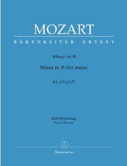 Missa Brevis K 275 MOZART Partition Chœur - laflutedepan
