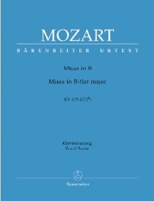 Missa Brevis K 275 - MOZART - Partition - Chœur - laflutedepan.com