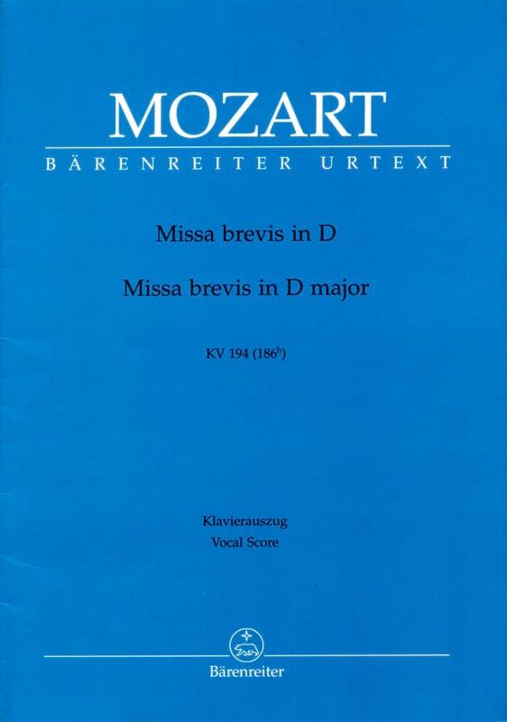 Missa Brevis K 194 D-Dur - MOZART - Partition - laflutedepan.com