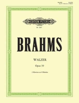 Walzer Opus 39. 2 Pianos BRAHMS Partition Piano - laflutedepan