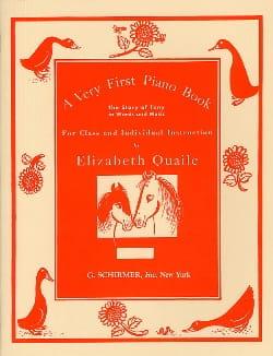 A very first piano book - Elizabeth Quaile - laflutedepan.com