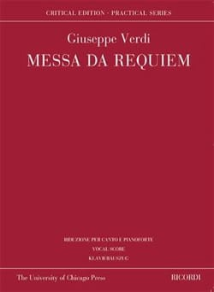 Messa da Requiem. Edition Critique VERDI Partition laflutedepan