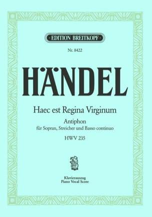 Haec Est Regina Virgin HWV 235 HAENDEL Partition laflutedepan
