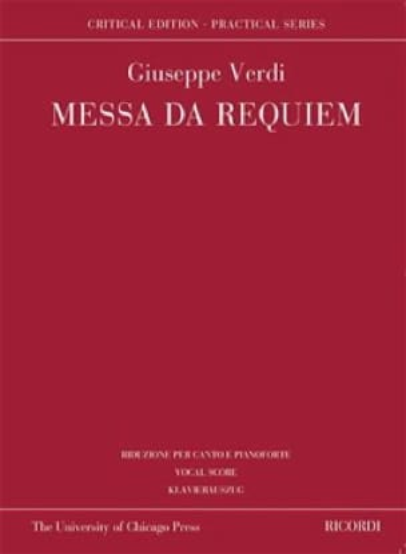 Messa da Requiem. Edition Critique - VERDI - laflutedepan.com