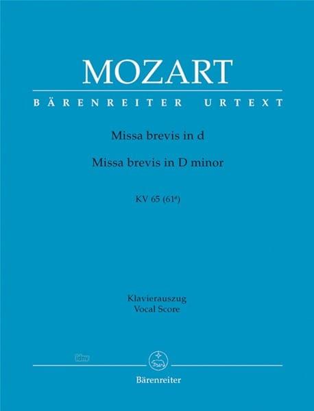 Missa Brevis in d-moll KV 65 61a - MOZART - laflutedepan.com