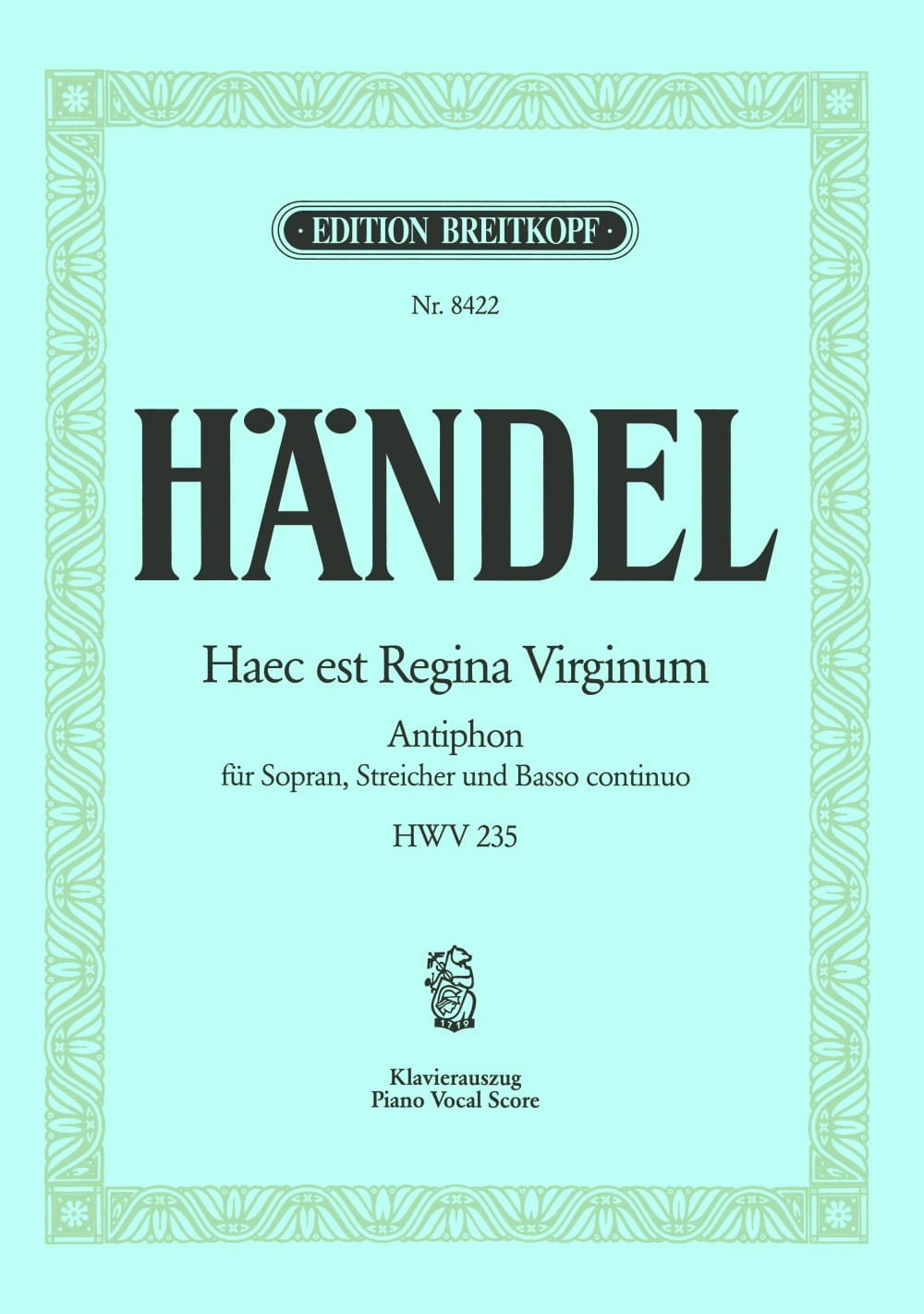 Haec Est Regina Virgin HWV 235 - HAENDEL - laflutedepan.com