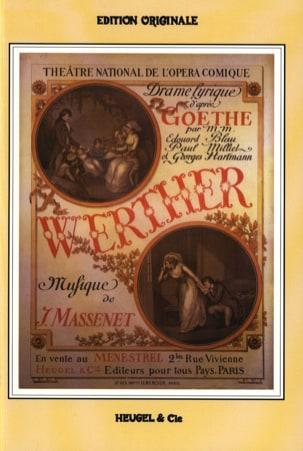 Werther MASSENET Partition Opéras - laflutedepan