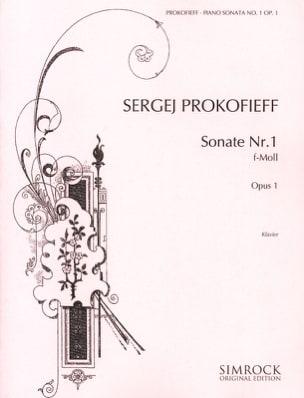 Sonate pour piano n° 1 Opus 1 en fa mineur PROKOFIEV laflutedepan