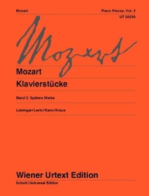Klavierstücke Volume 2 MOZART Partition Piano - laflutedepan