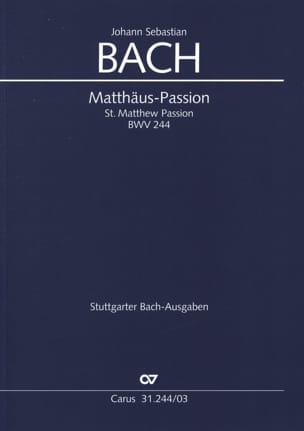 Passion selon Saint Matthieu - BWV 244 BACH Partition laflutedepan