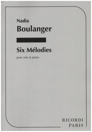 6 Mélodies Nadia Boulanger Partition Mélodies - laflutedepan