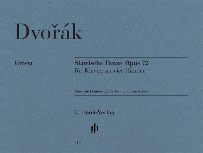 Danses Slaves Opus 72. 4 Mains - DVORAK - Partition - laflutedepan.com