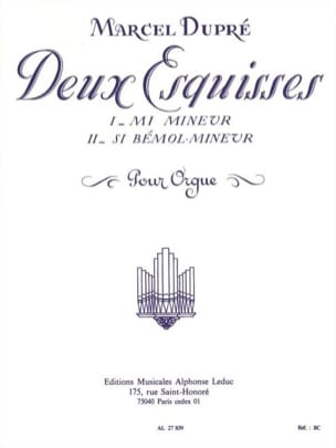 2 Esquisses Opus 41 DUPRÉ Partition Orgue - laflutedepan