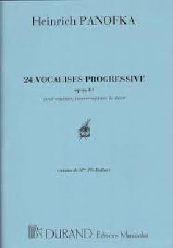 24 Vocalises Opus 81 Heinrich Panofka Partition laflutedepan