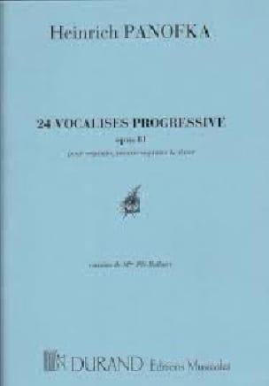 24 Vocalises Opus 81 - Heinrich Panofka - Partition - laflutedepan.com