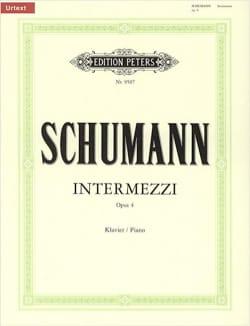 Intermezzi Opus 4 SCHUMANN Partition Piano - laflutedepan