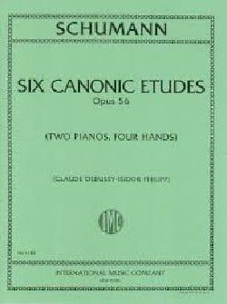 6 Canonic Etudes Opus 56. 2 Pianos SCHUMANN Partition laflutedepan