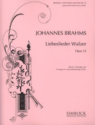18 Liebeslieder Walzer Opus 52 BRAHMS Partition Chœur - laflutedepan