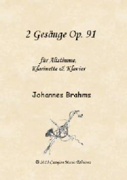 2 Gesänge op. 91 BRAHMS Partition Clarinette - laflutedepan
