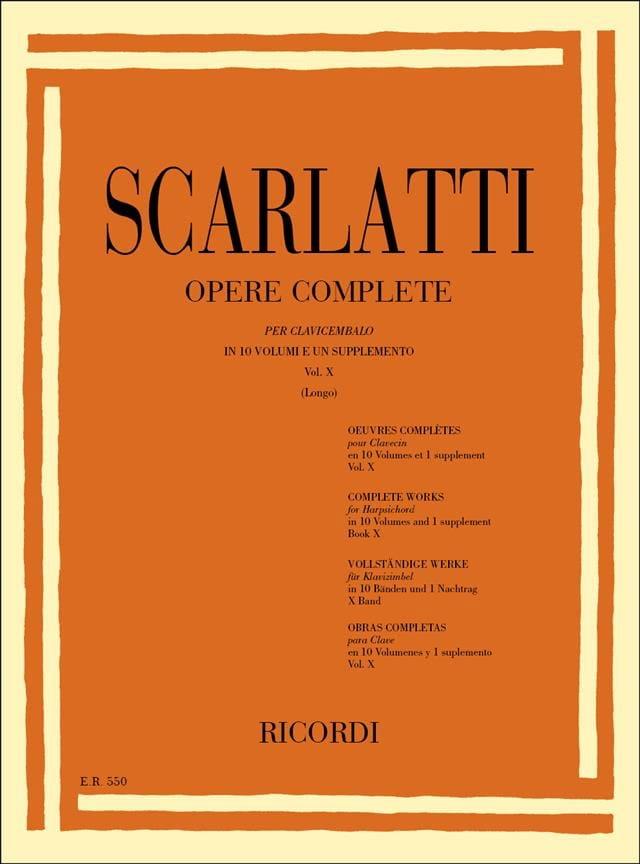 Sonates Volume 10. L451 A L500 - SCARLATTI - laflutedepan.com