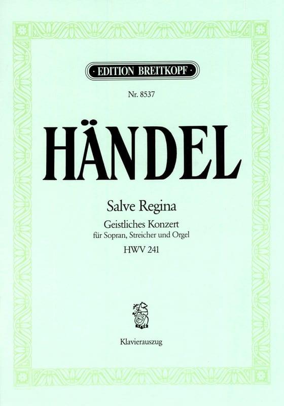Salve Regina HWV 241 - HAENDEL - Partition - laflutedepan.com