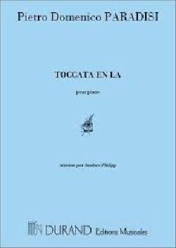 Toccata En La. Pietro Domenico Paradies Partition Piano - laflutedepan