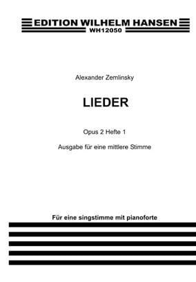Lieder Op. 2 Volume 1. Voix moyenne ZEMLINSKY Partition laflutedepan