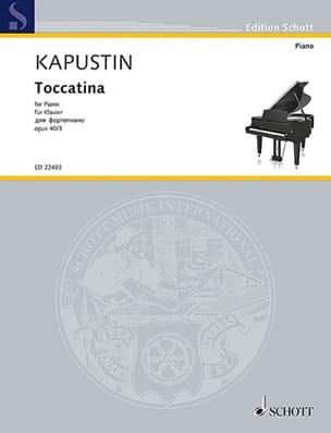 Toccatina op. 40-3 Nikolai Kapustin Partition Piano - laflutedepan